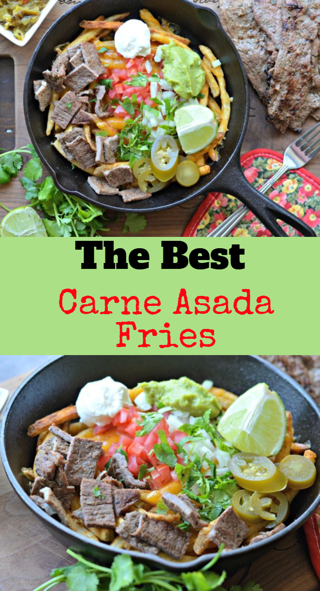 French fries are without a doubt one of the most popular foods around. Today we are going to learn how to make Mexican style carne asada fries!