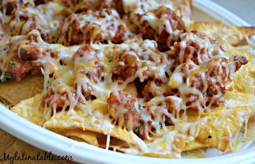 nachos chile con carne