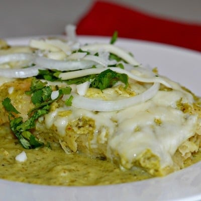 Homemade Enchiladas Verdes