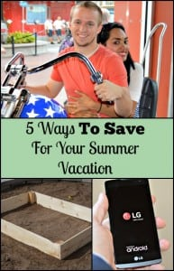 If you are trying to save for a family vacation, check out these five easy ways to save.