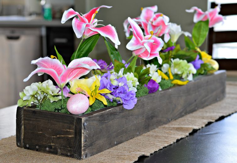 Springtime diy wooden box centerpiece my latina table
