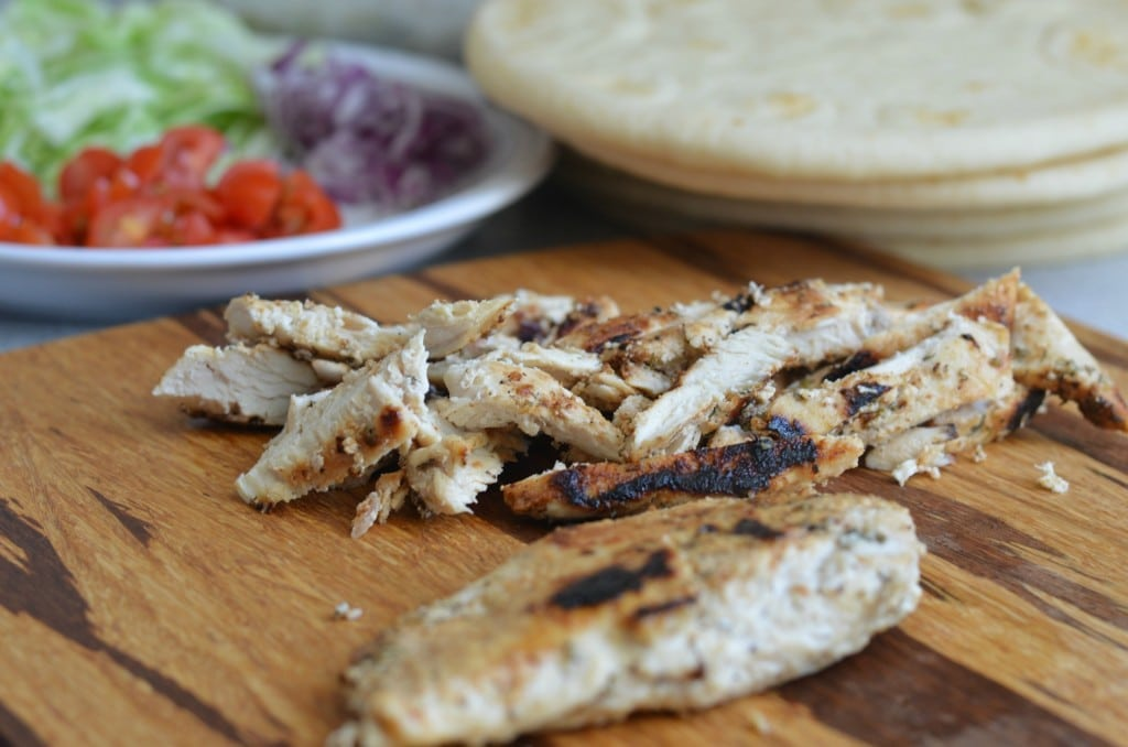 Chicken Gyros with Tzatziki sauce is becoming one of my go-to meals for the weekend. Try it out and you will see why!