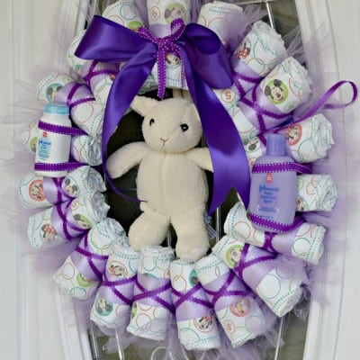DIY Diaper Wreath Tutorial