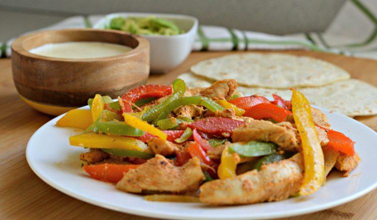Estas fajitas de pollo son faciles de preparar y son deliciosas