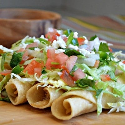 Mexican Style Chicken Flautas