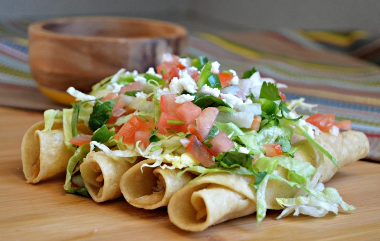 Mexican Style Chicken Flautas - My Latina Table