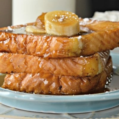 Pan Frances con Bananas Foster
