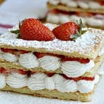 Strawberry and Cream Napoleon Recipe - delicious. easy. elegant.