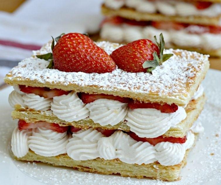 Strawberry and Cream Napoleon Recipe - delicious. easy. elegant.