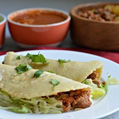 Chorizo and Potato Tacos (with homemade tortillas)