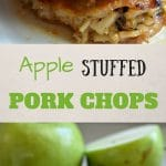 This apple stuffed pork chops recipe is a great option for the weeknight when you need a great meal in not a lot of time.