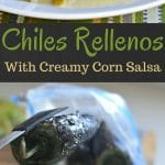 These chiles rellenos are so delicious that you will be coming back for more. The creamy corn salsa adds the perfect amount of creaminess and flavor to make this a must have Mexican dish.