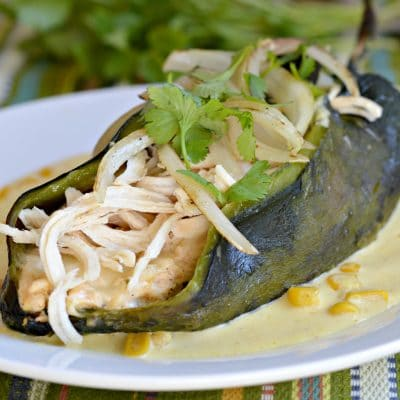 Chiles Rellenos Recipe with Creamy Corn Salsa