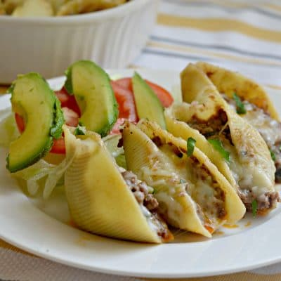 Beef Enchilada Stuffed Shells