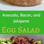 This avocado, bacon, and jalapeno egg salad is a perfect side dish for any meal. The flavors are amazing and you will love this on a sandwich or just by itself.