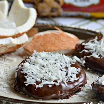 Chocolate and Coconut Covered Cookies