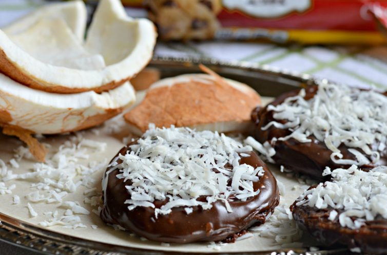 Chocolate and Coconut covered cookie 1