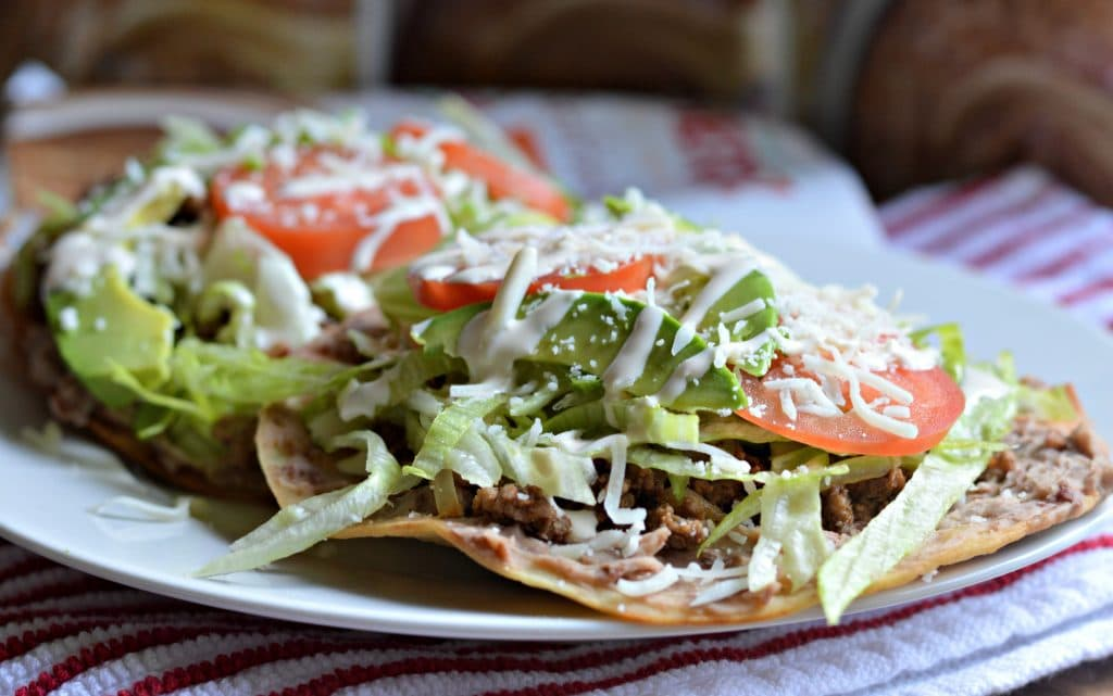 Traditional mexican tostadas recipe for your next fiesta this delicious recipe for traditional mexican tostadas is super easy to make and perfect for your forumfinder Images