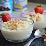 easy arroz con leche with sweetened condensed milk.