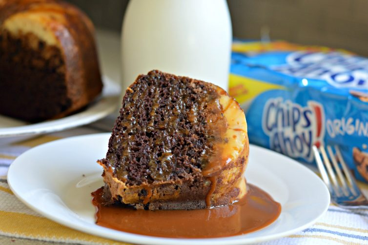 delicious chips ahoy chocolate flan cake  with a twist