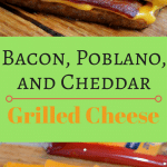 This bacon, poblano, and cheddar grilled cheese is delicious and easy to make. It is a perfect adult version of this childhood classic.