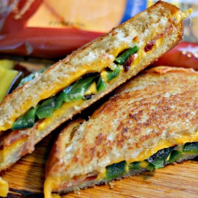 Bacon, Poblano, and Cheddar Grilled Cheese