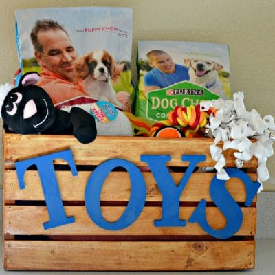 DIY Toy Bin For Your Dog
