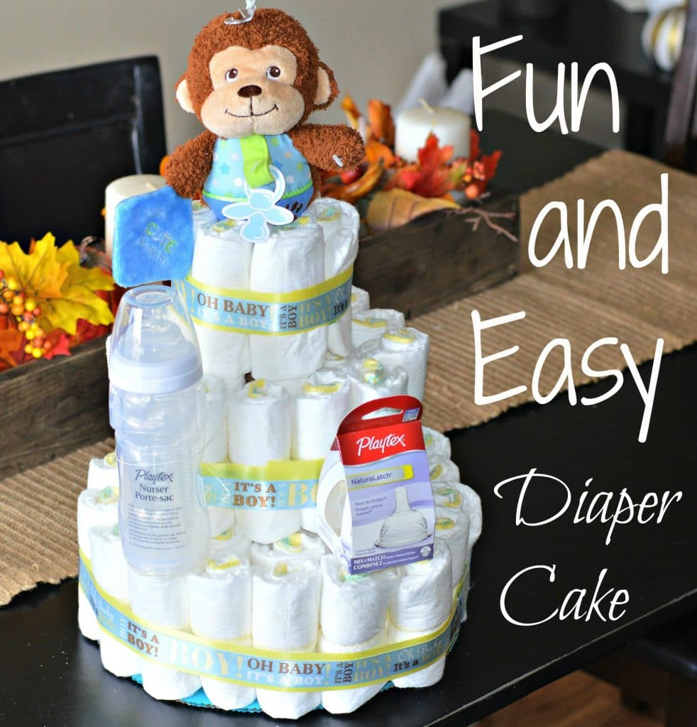 How to make diaper cake centerpieces for a baby shower