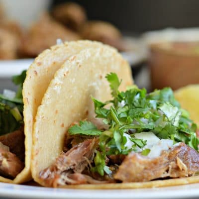 Slow Cooker Pork Carnitas Tacos