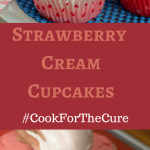 These Strawberry Cream Cupcakes are delicious and easy to make. Don't forget to make your own cupcakes and use the hashtags #10000cupcakes #donate and #cookforthecure so that KitchenAid will donate $1.00 towards finding a cure for Breast Cancer