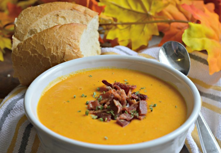 Butternut Squash, Sweet Potato, and Bacon Soup