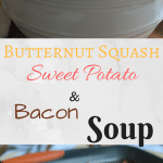 This Butternut Squash, Sweet Potato, and Bacon soup is perfect for this time of year. All of the flavors go together perfectly and it is sure to be a hit!
