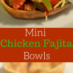 These mini chicken fajita bowls are a perfect option for your game day party. They are easy to make and everyone will love them.