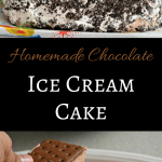 This homemade chocolate ice cream cake is delicious and perfect for birthday parties or other celebrations. Check it out here.