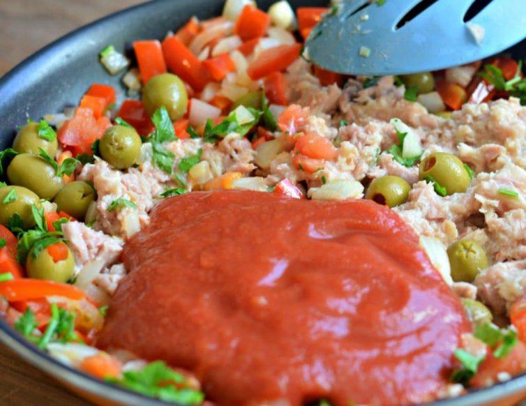 Vizcaina Style Tuna Stuffed Avocados 6