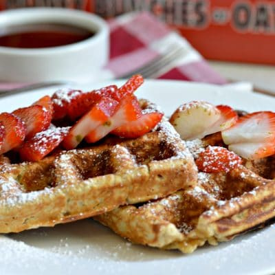 "Homemade ""Honey Bunches of Oats"" Waffles"