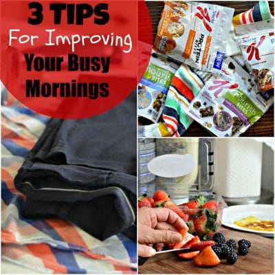 Three Tips For Improving Your Busy Mornings