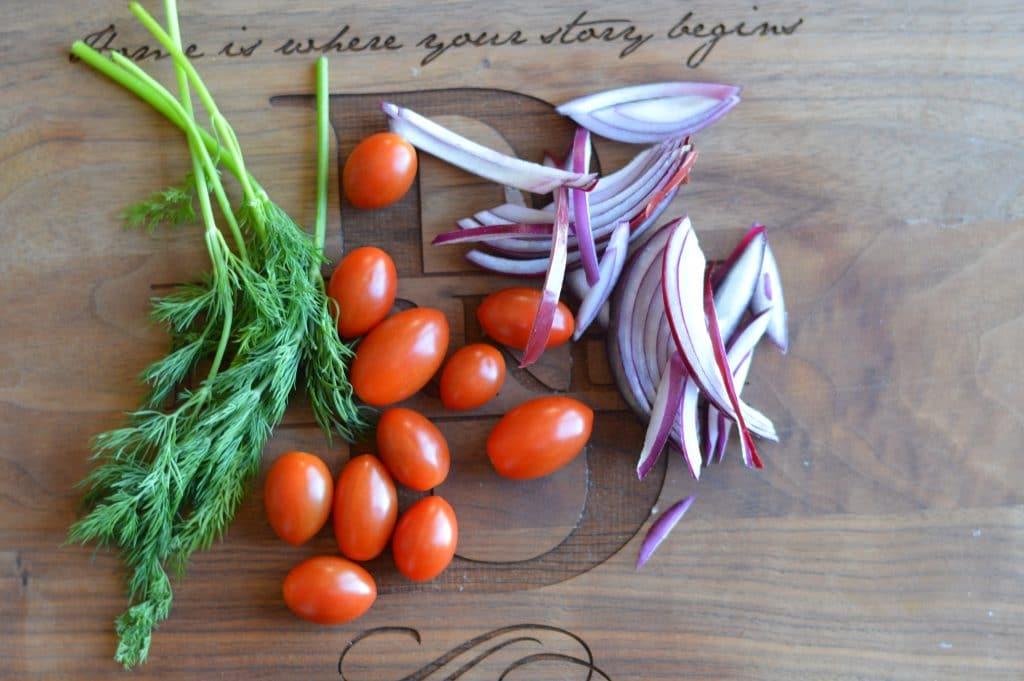Greek Salad Bowl with Tzatziki Dressing