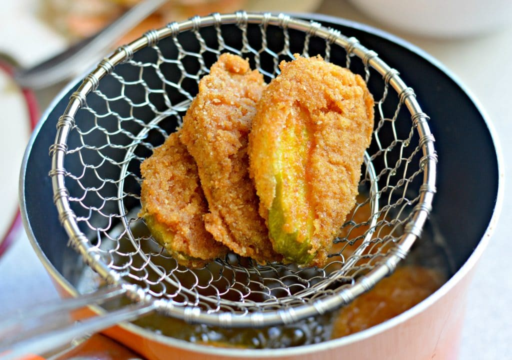 Fried Pickles - extra crispy using a delicious batter and zesty dill pickles.