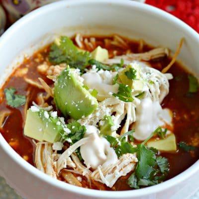 Autentica Sopa de tortilla Mexicana