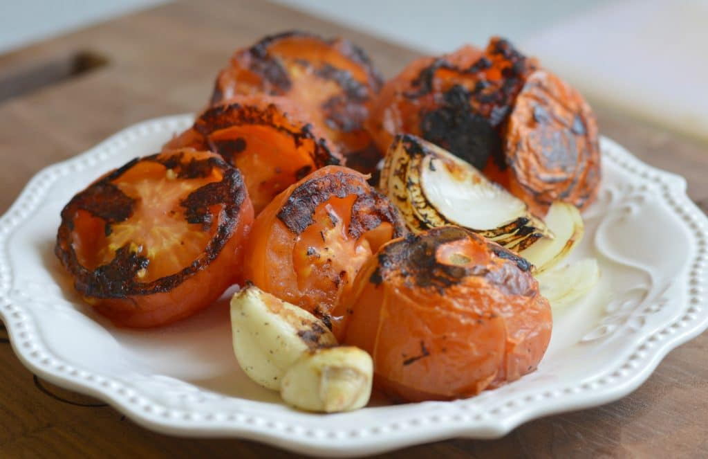sopa de tortilla tomates asados