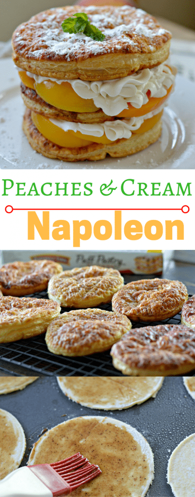 This Peaches and Cream Napoleon is so easy to make and is absolutely delicious. The subtle hint of maple and nutmeg will have you coming back for more.