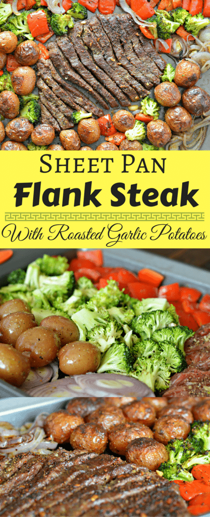 This Sheet Pan Flank Steak with Garlic Roasted Potatoes is a perfect option if you are in a hurry and don't want to clean up a big mess. Check it out today.