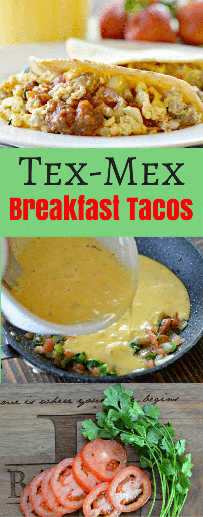 These Tex-Mex breakfast tacos are so easy to make, yet delicious! They are great for breakfast, brunch or anytime!