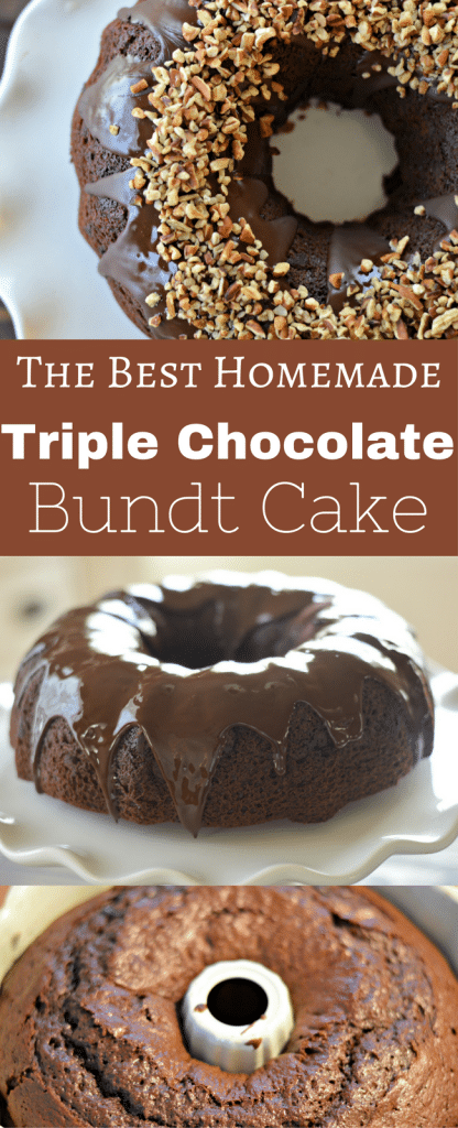 You are going to love this homemade triple chocolate bundt cake - it is easy to make and the taste is beyond description!