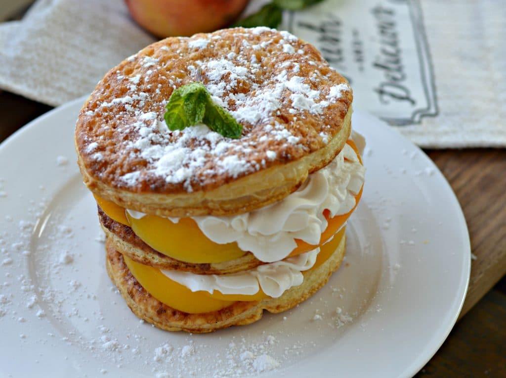 Peaches and Cream Napoleon 1