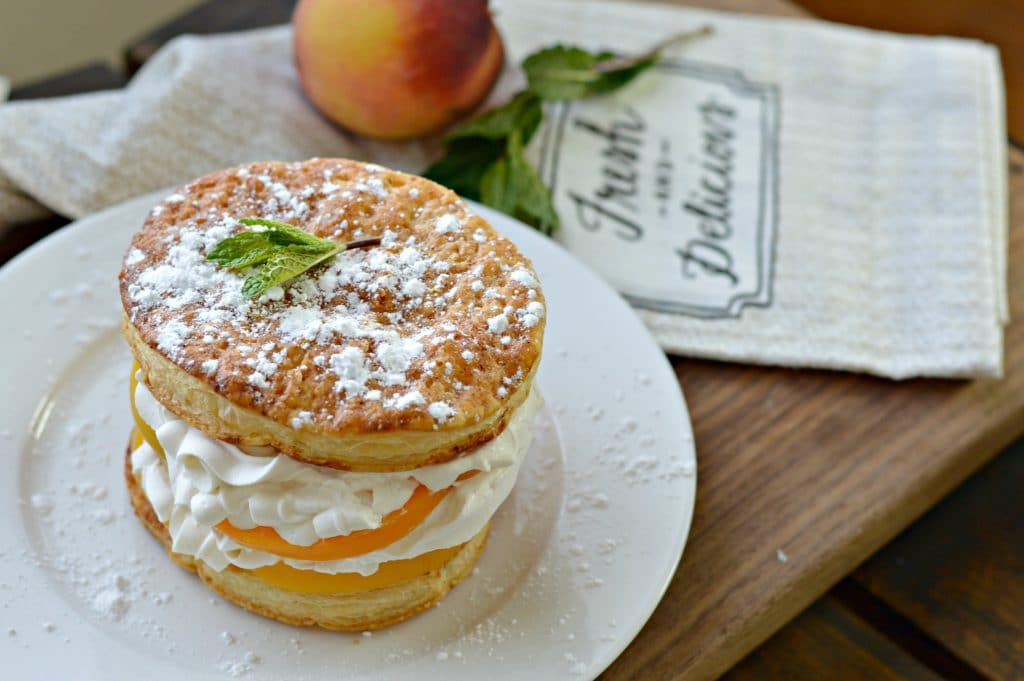 Peaches and Cream Napoleon 2