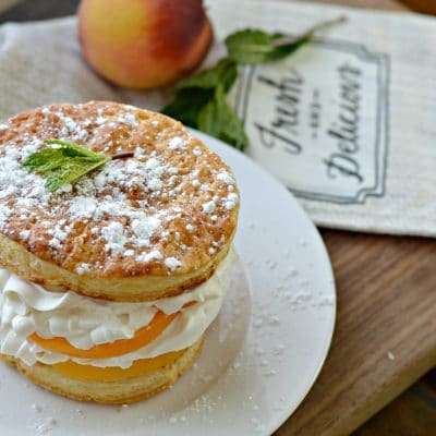 Peaches and Cream Napoleon Recipe