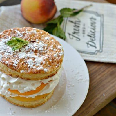 Peaches and Cream Napoleon Recipe