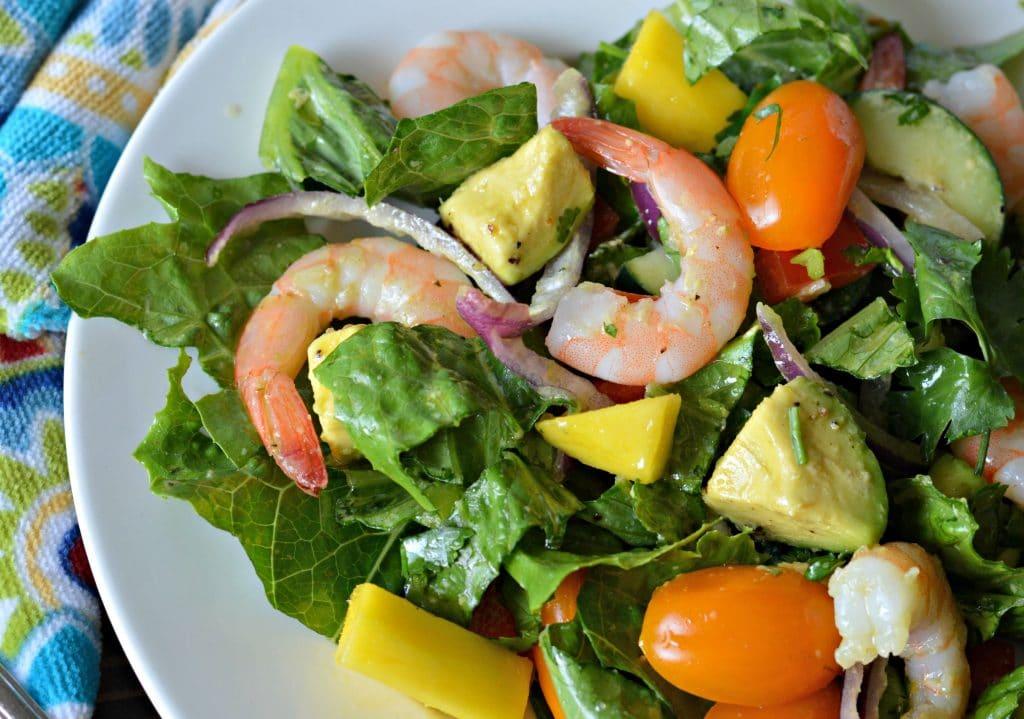 Tropical Cilantro Lime Shrimp And Avocado Salad My